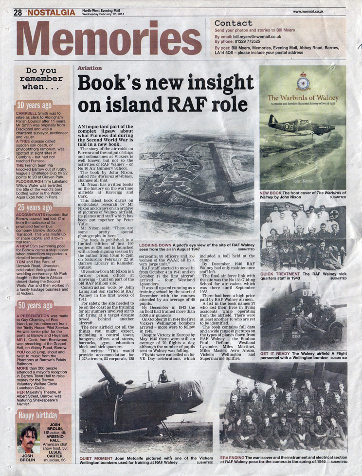 RAF Walney article